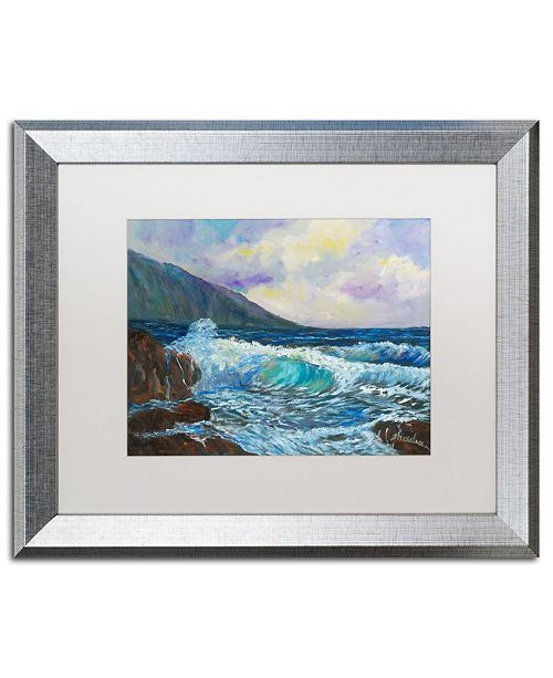 "Trademark Global Manor Shadian 'Maui's Enchanting Seas' Matted Framed Art - 20"" x 16"""
