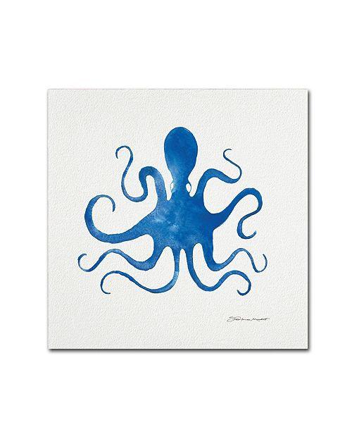 "Trademark Global Stephanie Marrott 'Octopus In Blue' Canvas Art - 24"" x 24"""