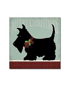 "Stephanie Marrott 'Scottie Merry Christmas' Canvas Art - 35"" x 35"""