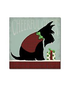"Stephanie Marrott 'Scottie Cheerful Giver' Canvas Art - 35"" x 35"""
