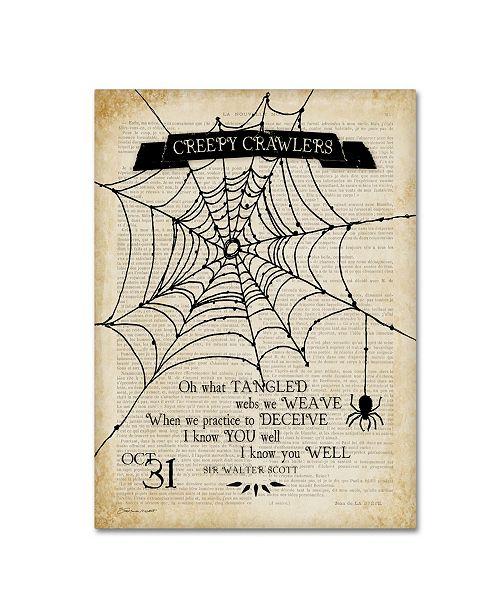 "Trademark Global Stephanie Marrott 'Creepy Crawler Spider' Canvas Art - 35"" x 47"""