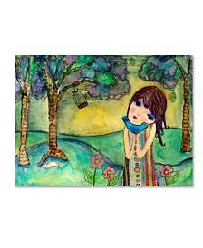 "Wyanne 'Big Eyed Girl Free To Love' Canvas Art - 35"" x 47"""
