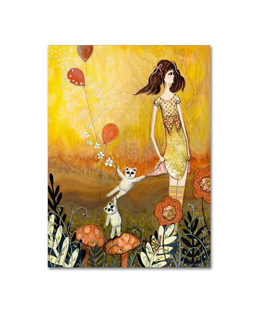 """Trademark Global Wyanne 'Big Eyed Girl She Doesn't Want To Play' Canvas Art - 24"""" x 32"""""""