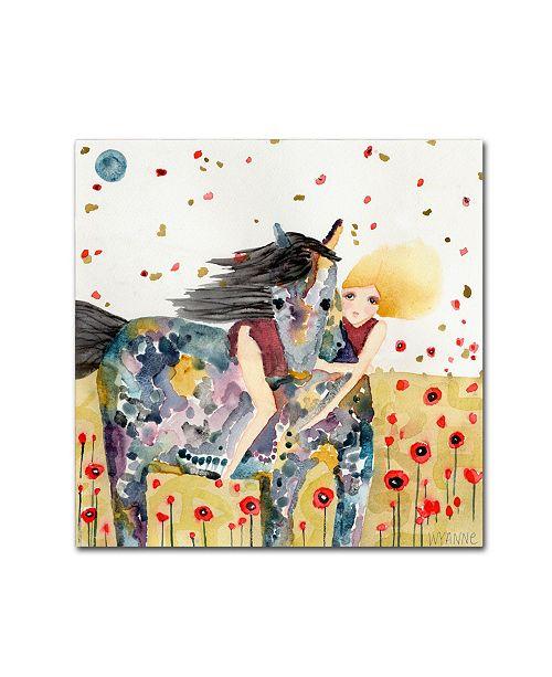 """Trademark Global Wyanne 'Wind In The Poppy Field' Canvas Art - 35"""" x 35"""""""
