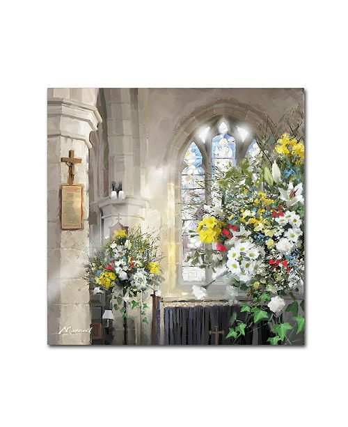 "Trademark Global The Macneil Studio 'Church Flowers' Canvas Art - 35"" x 35"""