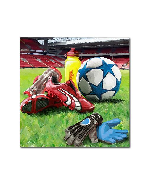 "Trademark Global The Macneil Studio 'Football' Canvas Art - 24"" x 24"""