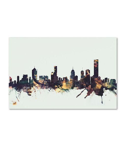 "Trademark Global Michael Tompsett 'Melbourne Skyline' Canvas Art - 22"" x 32"""