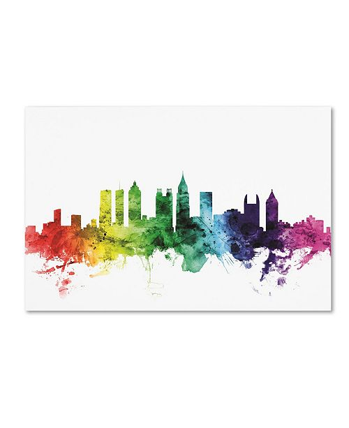 "Trademark Global Michael Tompsett 'Atlanta Georgia Skyline II' Canvas Art - 22"" x 32"""