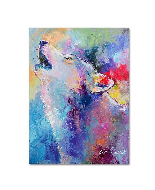"Trademark Global Richard Wallich 'Wolf' Canvas Art - 35"" x 47"""