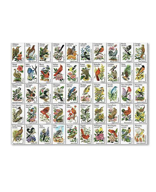"Trademark Global Vintage Apple Collection '50 Birds' Canvas Art - 24"" x 32"""