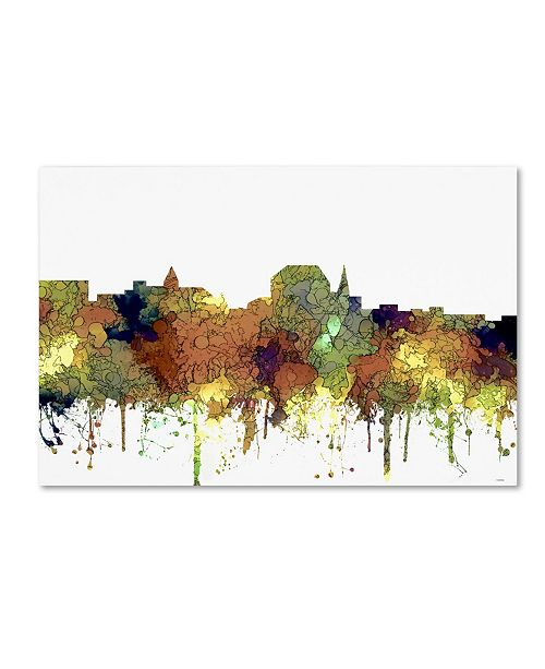 "Trademark Global Marlene Watson 'Augusta Maine Skyline SG Safari Buff' Canvas Art - 30"" x 47"""