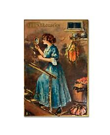 "Vintage Apple Collection 'Halloween Blue Dress Mirror' Canvas Art - 22"" x 32"""