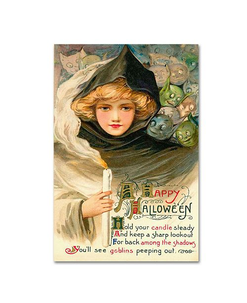 "Trademark Global Vintage Apple Collection 'Halloween Eleven' Canvas Art - 22"" x 32"""