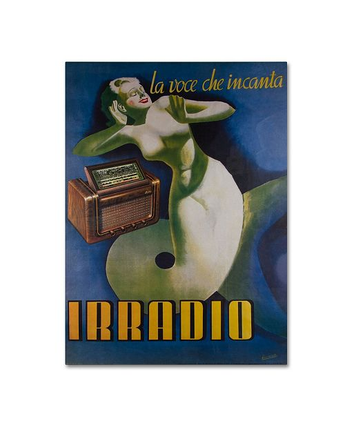"Trademark Global Vintage Apple Collection 'Irradio' Canvas Art - 35"" x 47"""