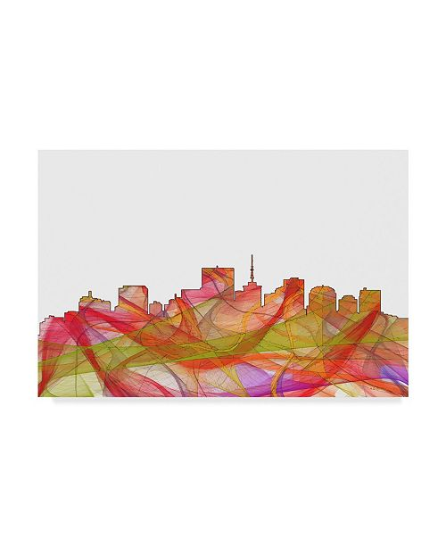 "Trademark Global Marlene Watson 'Richmond Virginia Skyline Swirl' Canvas Art - 22"" x 32"""