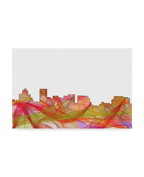 "Trademark Global Marlene Watson 'Salem Oregon Skyline Swirl' Canvas Art - 22"" x 32"""