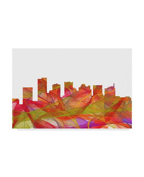 "Trademark Global Marlene Watson 'Scottsdale Arizona Skyline Swirl' Canvas Art - 22"" x 32"""