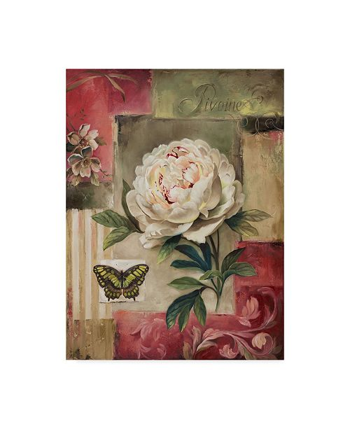 "Trademark Global Lisa Audit 'Rose and Butterfly 2' Canvas Art - 35"" x 47"""