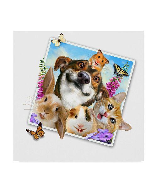 "Trademark Global Howard Robinson 'Cute Pet Photograph' Canvas Art - 35"" x 35"""