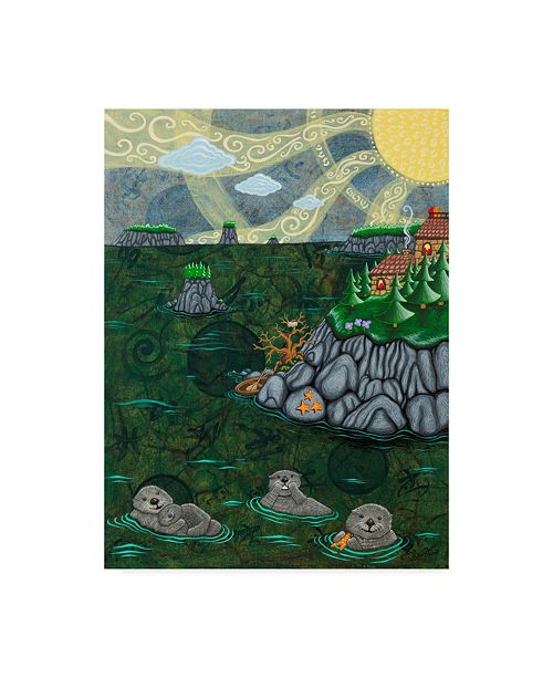"Trademark Global Jake Hose 'Sea Otters' Canvas Art - 35"" x 47"""
