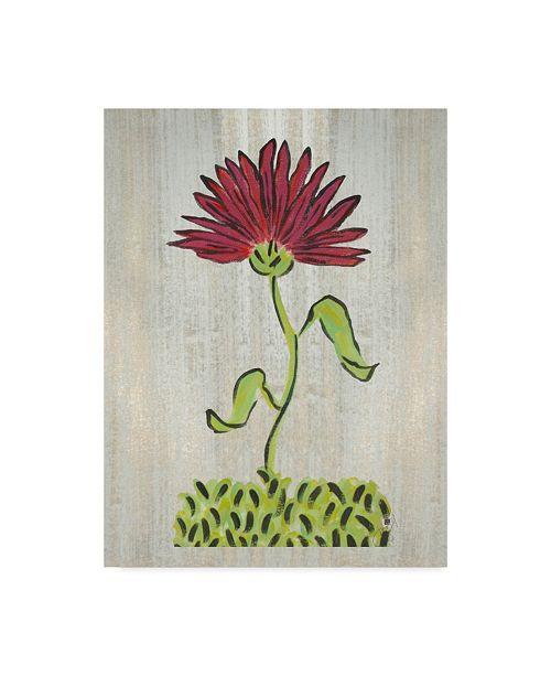 "Trademark Global Jessmessin 'Single Red Flower' Canvas Art - 35"" x 47"""