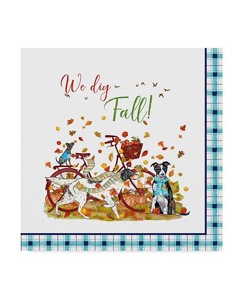 """Trademark Global Jean Plout 'We Dig Fall' Canvas Art - 35"""" x 35"""""""