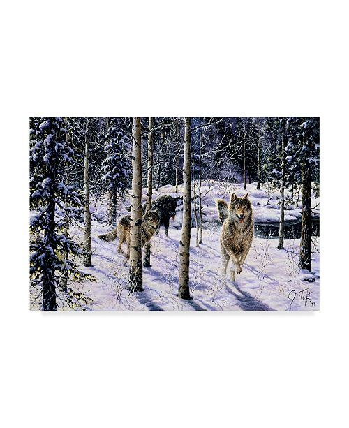 "Trademark Global Jeff Tift 'Pursuit' Canvas Art - 30"" x 47"""