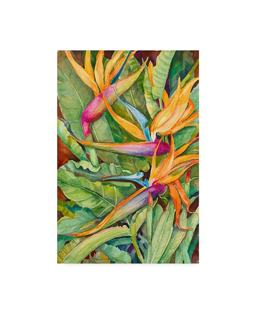 "Trademark Global Joanne Porter 'Birds Of Paradise' Canvas Art - 30"" x 47"""