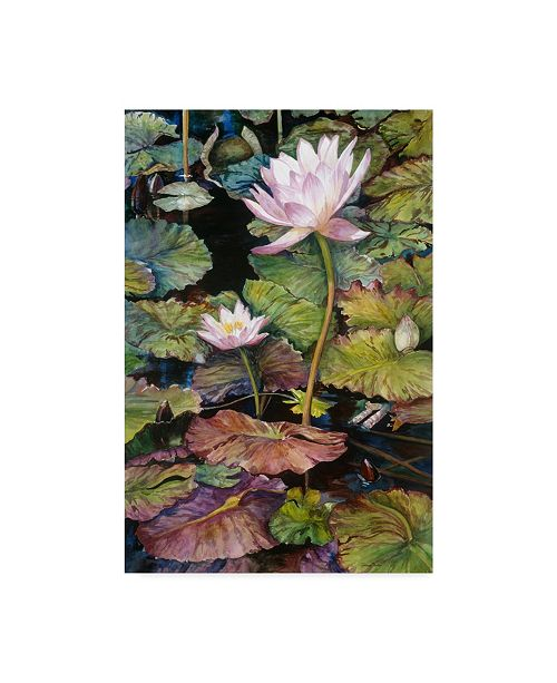 "Trademark Global Joanne Porter 'Water Lilies' Canvas Art - 30"" x 47"""
