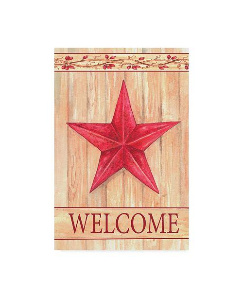 "Trademark Global Melinda Hipsher 'Barn Star Welcome' Canvas Art - 30"" x 47"""