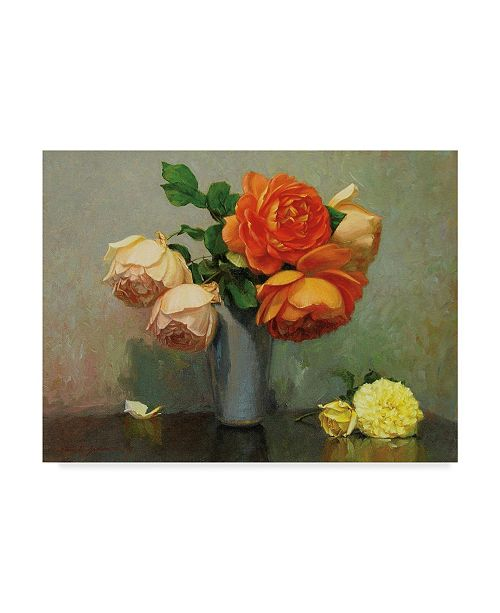 """Trademark Global Robin Anderson 'Floral Bouquet' Canvas Art - 35"""" x 47"""""""
