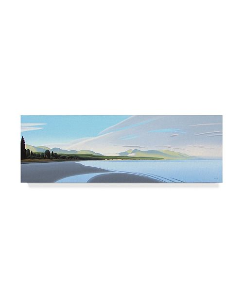 "Trademark Global Ron Parker 'Qualicum Bay' Canvas Art - 8"" x 24"""
