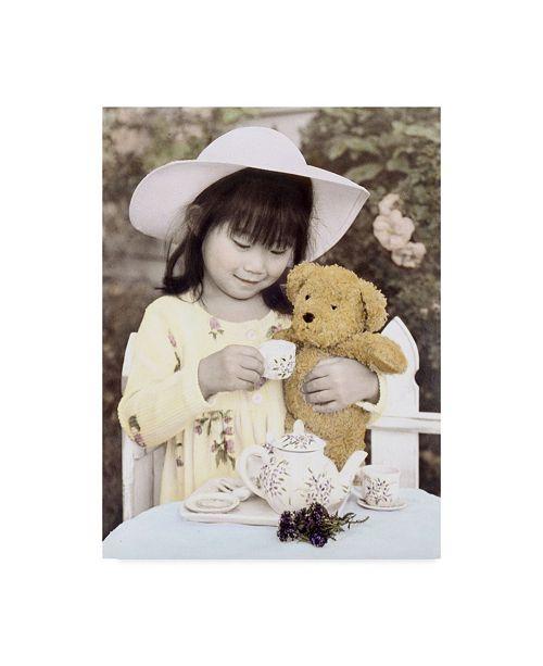 "Trademark Global Sharon Forbes 'Tea For Teddy' Canvas Art - 35"" x 47"""