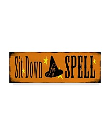 """Valarie Wade 'Sit Down For A Spell' Canvas Art - 8"""" x 24"""""""