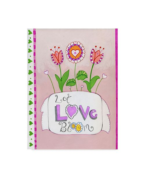 "Trademark Global Valarie Wade 'Let Love Bloom' Canvas Art - 35"" x 47"""