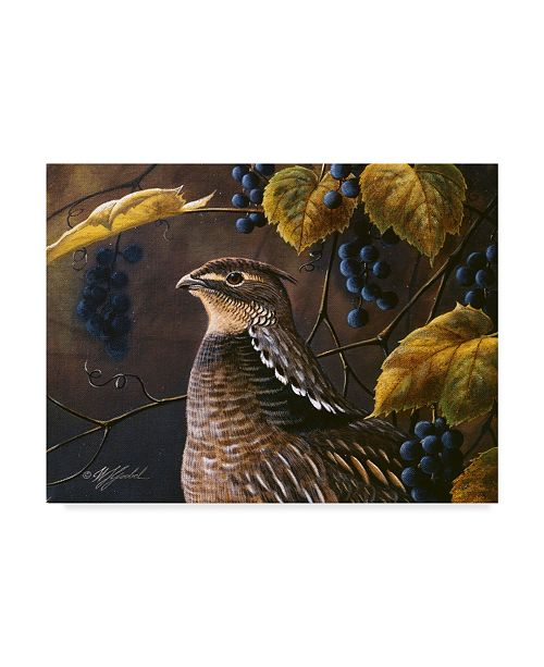 """Trademark Global Wilhelm Goebel 'Grouse And Grapes' Canvas Art - 35"""" x 47"""""""