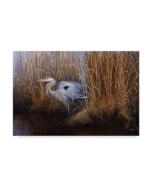 "Trademark Global Wilhelm Goebel 'Coastal Heron' Canvas Art - 30"" x 47"""