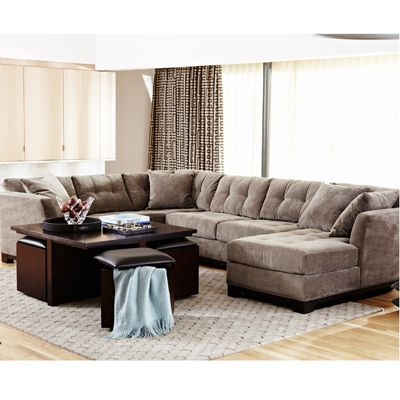 Super Buy  sc 1 st  Macyu0027s : elliot microfiber sectional - Sectionals, Sofas & Couches