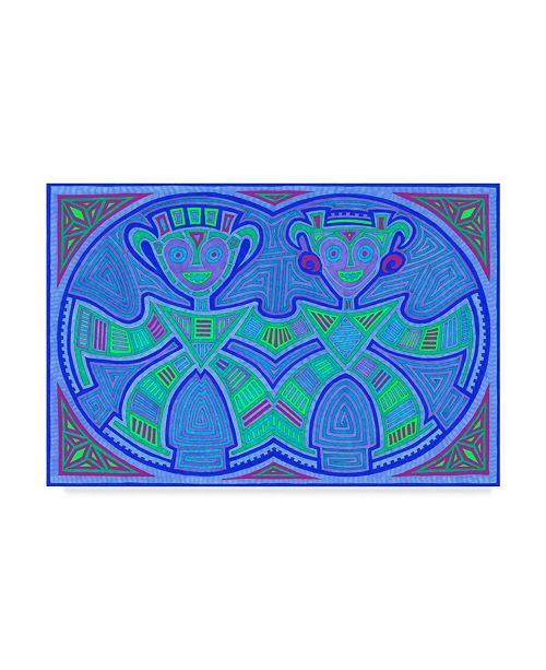 "Trademark Global Willow Bascom 'Gemini' Canvas Art - 22"" x 32"""