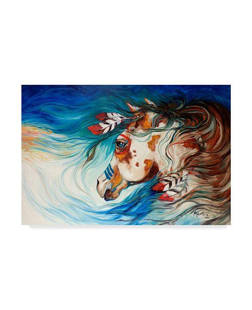 """Trademark Global Marcia Baldwin 'The Drifter Indian War Horse' Canvas Art - 32"""" x 22"""""""
