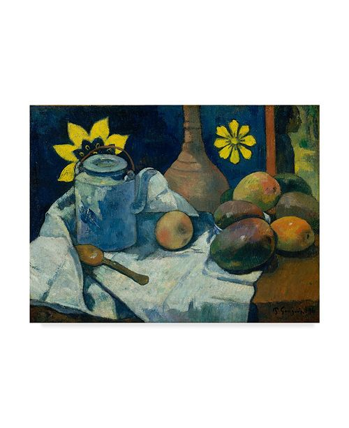 "Trademark Global Paul Gauguin 'With Teapot And Fruit' Canvas Art - 47"" x 35"""