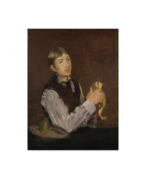 "Trademark Global Edouard Manet 'Young Boy Peeling A Pear' Canvas Art - 32"" x 24"""