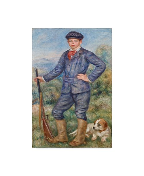 "Trademark Global Pierre Auguste Renoir 'Jean As A Huntsman' Canvas Art - 32"" x 22"""