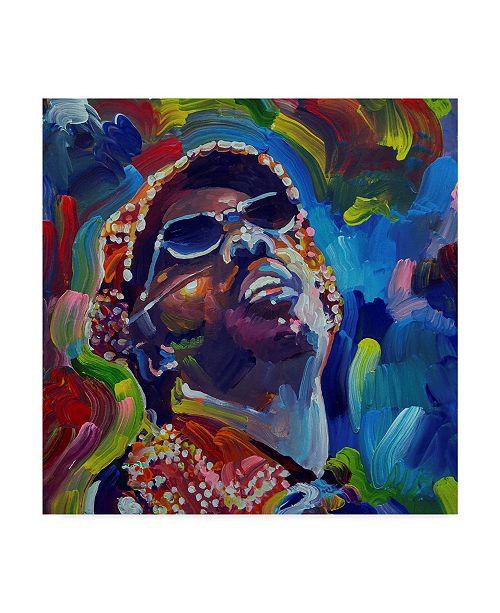 "Trademark Global Howie Green 'Stevie Wonder' Canvas Art - 35"" x 35"""