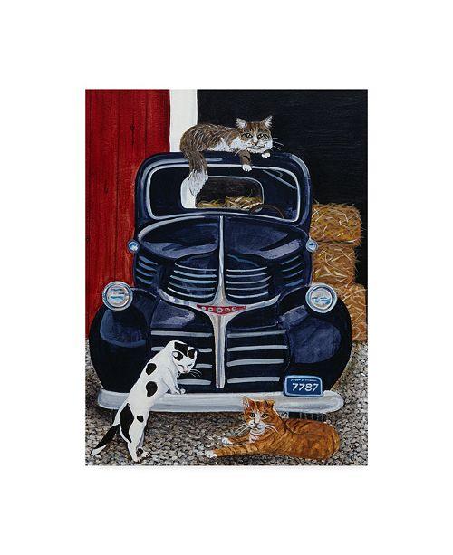"Trademark Global Jan Panico 'Ranch Cats' Canvas Art - 35"" x 47"""