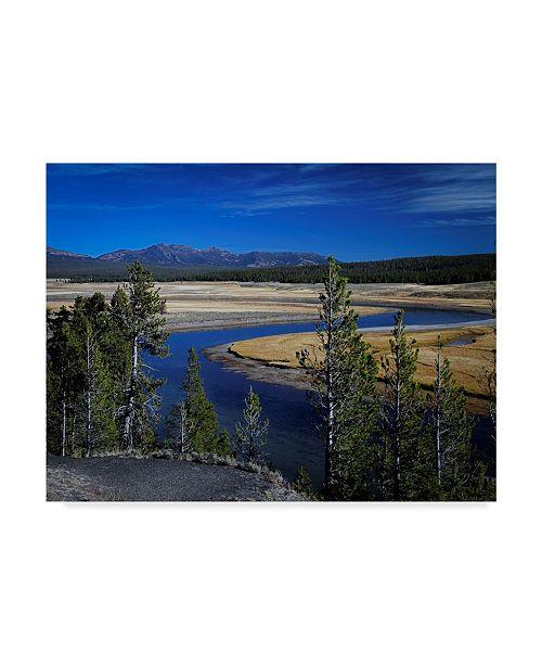 "Trademark Global J.D. Mcfarlan 'Yellowstone River' Canvas Art - 47"" x 35"""