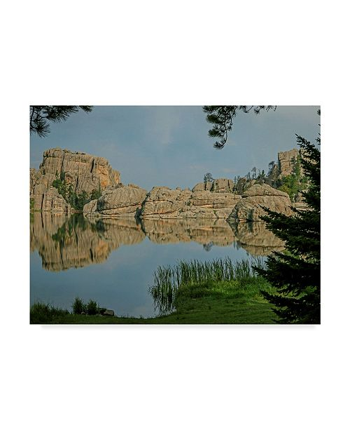 "Trademark Global J.D. Mcfarlan 'Sylvan Lake, Sd 1' Canvas Art - 32"" x 24"""