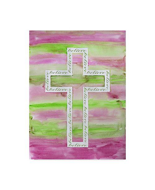 "Trademark Global Jean Plout 'Watercolor Cross 2' Canvas Art - 35"" x 47"""
