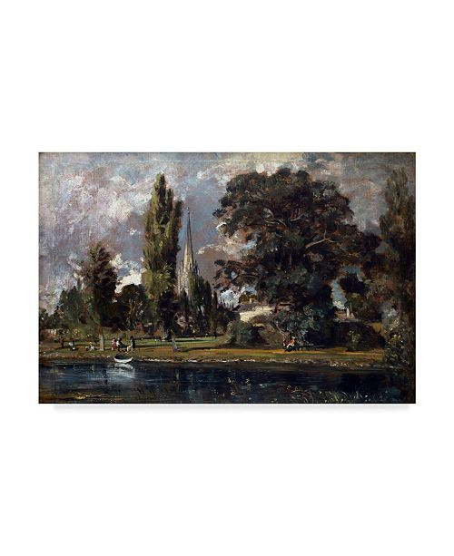 "Trademark Global John Constable 'Salisbury Cathedral And Leadenhall, 1820' Canvas Art - 32"" x 22"""