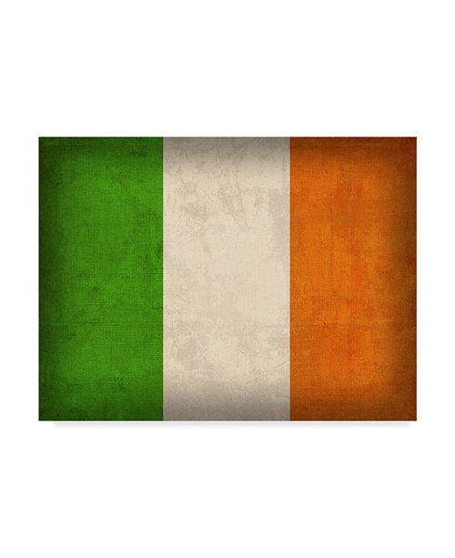 "Trademark Global Red Atlas Designs 'Ireland Distressed Flag' Canvas Art - 24"" x 18"""